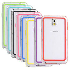 For Samsung Galaxy Note Note2 Note3 Note 4 Bumper Frame Rubber hard case Cover