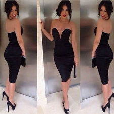 NEW Women Sexy Bodycon Bandage Wrapped Tight Waist Exposed party dress