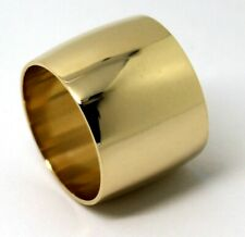 16MM GENUINE SOLID 9ct ROSE or YELLOW or WHITE GOLD 375  WIDE BAND RING SIZE Q