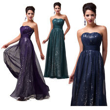 CHEAP Formal Long Ball Gown Party Prom Bridesmaid Evening Dress Size Stock 6-20