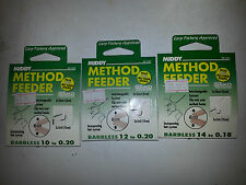 Middy Method Feeder Hair rig carp hooks to nylon Pay 1 postage on multi buys