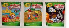 NEW CRAYOLA DRY WIPE ERASE MARKER LEARNING ACTIVITY WORK BOOKS 14 Pages PreK - K