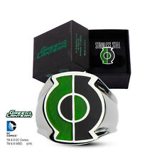Stainless Steel Split Green Lantern Power Ring Black Superhero Free Shipping