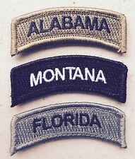 Morale Assorted State Patch Rocker with VELCRO - PICK YOUR STATE and COLOR!