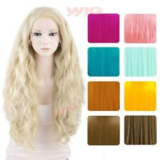 """18"""" / 22"""" / 26"""" Long Curly Wavy Blonde Orange Pink Green Brown Lace Front Wig"""