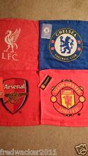 Chelsea, Arsenal, Man Utd, Liverpool - Football Face Cloth - Flannel  BRAND NEW