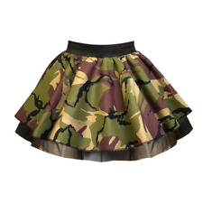 WOMANS ARMY CAMOUFLAGE TUTU SKIRT 80's FANCY DRESS DANCE Skirt 1950's Night Out
