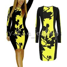 Women's O-Neck Long Sleeve Beyonce Dress Stretch Bodycon Dress Plus size