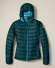 New Eddie Bauer First Ascent Women's Stormshed Hooded Jacket Mediterranian