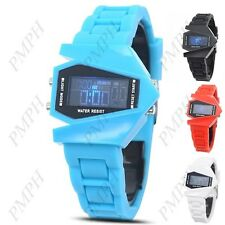 Kid's Children Fashion LED Digital Watch  with Jelly Rubber Band & Back Light