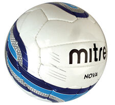 Mitre Nova Match Football Top Quality Size 3 + 4 White Blue Sky Foot Ball