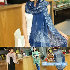 New Fashion Womens Long Cotton Scarf Wrap Ladies Shawl Girls Large Silk Scarves