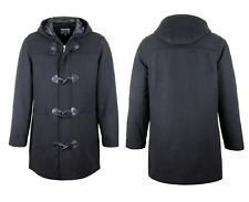 NEW MENS HOODED WARM WINTER DUFFLE ZIP COAT JACKET LABELDUCK SIZES S- XXL