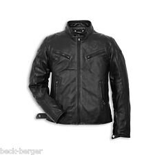 DUCATI Dainese URBAN '14 Leather Jacket Perforated Black New