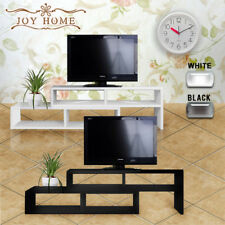 Extendable Entertainment LED LCD TV Unit Stand Display Cabinet Coffee Table