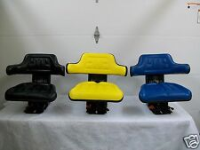 UNIVERSAL SUSPENSION SEATS,JOHN DEERE YELLOW, FORD NEW HOLLAND BLUE, BLACK  #AO