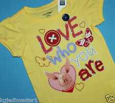 """baby Gap NWT Girls 18 24 Mo 3T Nick Jr. Olivia Top - """"Love Who You Are"""" w/ Heart"""