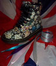 Coloured Ribbon Shoe Laces*Customised Dr Martens Converse*Quirky Christmas Gift