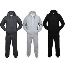 New Mens Fine Casual Luxuary Fleece Full TrackSuit Jogging Bottom Hoodie Suite