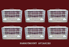 CASE OF 6 CAGES FOR COCKATIELS, PARAKEETS, FINCHES & SIMILAR SIZE BIRDS 24x16x16