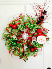 Holiday Wreaths - Red, Green, Pink, Blue, White & More! Handmade! Fast Shipping!
