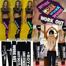 Ladies Leggings Letters work-out Jeggings Sportswear GYM Sports Fitness Pants