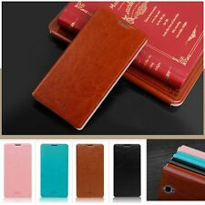 PU Leather Flip Thin Stand Cover Case for Alcatel One Touch Idol X Plus X+ 6043D
