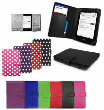 Leather Smart Case Cover Wallet for Amazon Kindle Touch/Paperwhite 5/Kindle 4