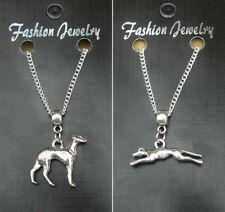"""18"""" or 24 Inch Chain Necklace & Greyhound Dog Pendant Gift Souvenir"""
