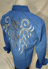 Mens House of Lords Button Down Dress Shirt Tribal Wings Baby Blue Roar Wt Class
