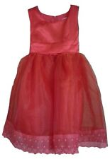 WOW!! GIRLS PRETTY RED PARTY DRESS AGE 3-4 & 4-5 ONLY £9.99 PINK OR RED