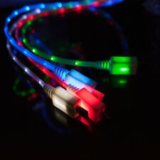 LED Light Micro USB Charging Data Sync Cable Android HTC Samsung S3 S4 Tablet