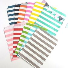 50 Sailor Striped Paper Lolly Candy Buffet Bags Birthday Wedding Party Favour