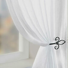 CRUSHED Voile Net Semi Sheer Curtain Panel WHITE CREAM All Sizes Extra WIDE LONG