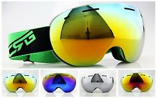brand professional skiiing/snowboard goggles double lens anti-fog ski goggles