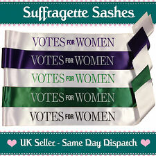 VOTES FOR WOMEN SUFFRAGETTE SASH - Cheap Emmeline Pankhurst Fancy Dress Costume