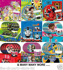 Themed CHILDREN's CHARACTER Birthday Party Packs Kits for 8 Guests