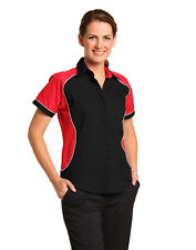AIW BS16 Womens ARENA Cotton Twill Shirt; Short sleeved; 8-18