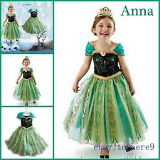 Frozen Girls Dress Elsa Disney Queen Up Gown costume Princess Anna Party 3-10Y