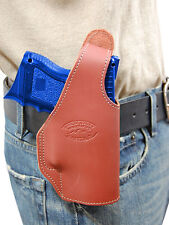 New Barsony Burgundy Leather OWB Holster Smith&Wesson Compact Sub-Comp 9mm 40 45