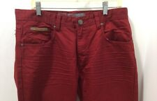 MEN'S JORDAN CRAIG SLIM FIT STRAIGHT FASHION JEANS,RED,100% COTTON,NEW with TAGS