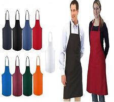 50 NEW BLACK RED ORANGE GREEN WHITE BLUE COMMERCIAL BIB APRON, WITH COLOR CHOICE