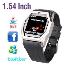 "1.54"" TW520 Touch Screen Cell Phone Watch Camera DVR SIM SMS GSM Bluetooth    EB"