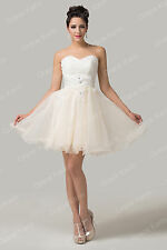 Excellent~New Wedding Bridesmaid Short Tutu Dress Prom Dress Dance Party Evening