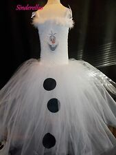 Olaf Disney Frozen (Inspired) Snowman Tutu Dress Age 3-12 with picture