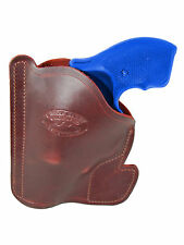 "New Barsony Burgundy Leather Gun Pocket Holster S&W 2"" Snub Nose 38 357 Revolver"