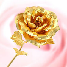 Xmas Gift 24k Dipped Gold Rose Foil Flowers - Rose-open ( Free Gift Box)