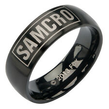 "LICENSED SOA SONS OF ANARCHY "" SAMCRO LOGO "" RING AUTHENTIC with GIFT BOX"