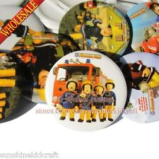 The Fireman Sam Tin Buttons pins badges,30MM,Round Brooch Badges Decorate Gift