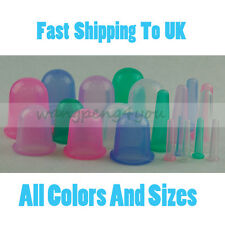 ANTI CELLULITE SILICONE VACUUM CUPPING BODY Facial MASSAGE RUBBER Wrinkle CUPS